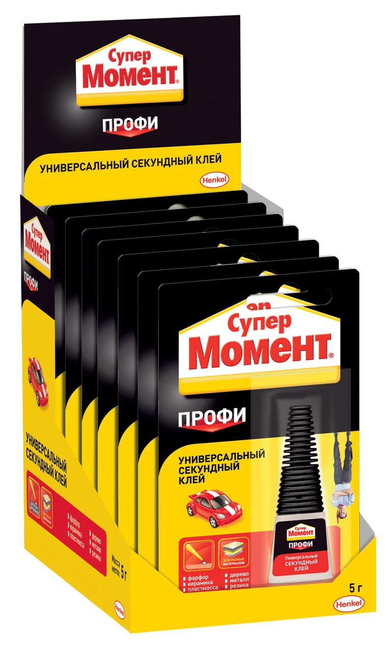 """Клей """"Henkel"""" Супер Момент профи на б/карте шоу-бокс 5 г"""