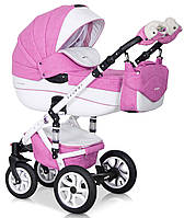 Детская коляска универсальная 2 в 1 RikoBranoEcco 18 baby pink (Рико Брано, Польша)