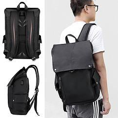 Чоловічий рюкзак міський (для ноутбука) - чорний