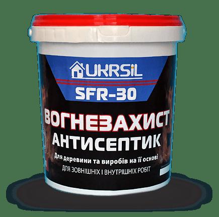 Огнезащита-антисептик для древесины UKRSIL SFR 5л (7кг)