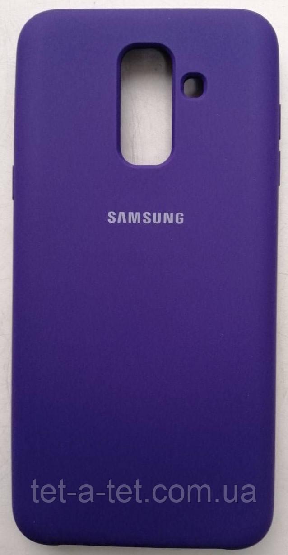 Silicone Color Cover Samsung A6 Plus (2018) Blue