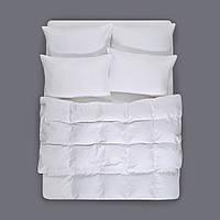 Постельное белье Отель - Сатин Страйп белый 1*1 евро (Турция)
