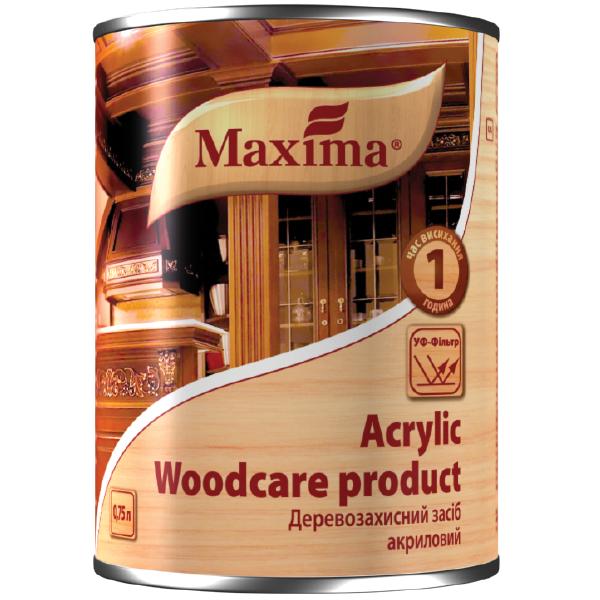 Средство деревозащитное акриловое тик 0,75л Maxima