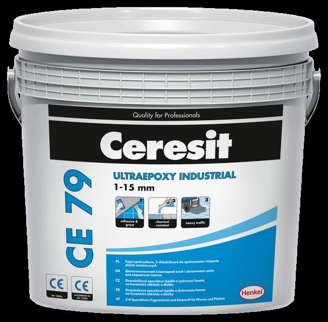 Эпоксидный двухкомпонентный заполнитель швов Ceresit CE 79/710 св-серый (5 кг)