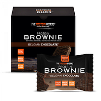 Протеиновый Брауни Protein Brownie - The Protein Works 40 г - песочное печенье (5060455519064)