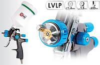 Краскопульт пневматический Intertool Lvlp Blue New 1.4 мм PT-0134 профессиональное оборудование