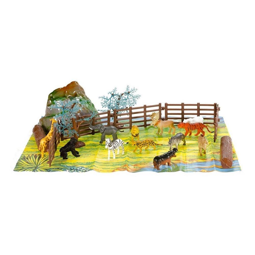 Набор фигурок Дикие животные 16 шт. Оригинал Wing Crown D33703