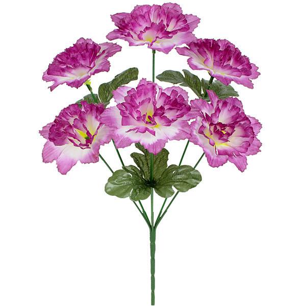 Искусственные цветы букет гвоздики плоской, 36см (20 шт в уп)
