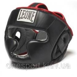 Боксерський шолом Leone Full Cover Black M (код 168-519128)
