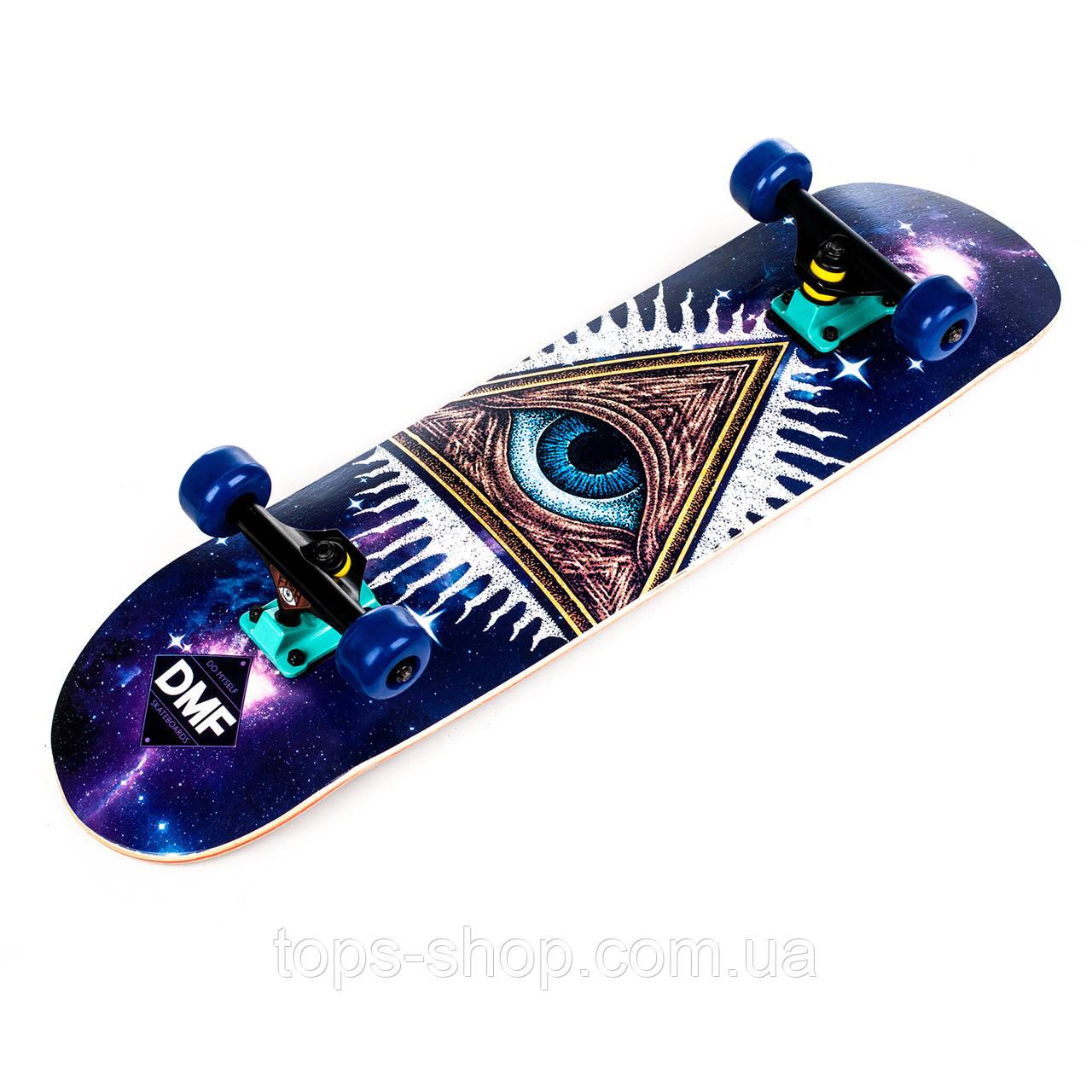 Скейт дерев'яний, Скейтборд, натуральний канадський клен, для трюків, Fish Skateboards - UFO-EYE, преміум!!!