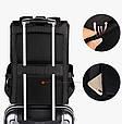 Мужской городской рюкзак (для ноутбука) - черный, фото 5