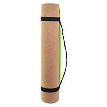 Коврик для йоги SportVida TPE+Cork 0.4 см