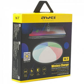 Бездротове зарядний пристрій Awei 10W 7 Кольорів, фото 2