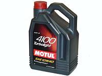 Полусинтетическое моторное масло Motul (мотюль) 4100 Turbolight 10W-40 4л.