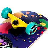 Скейт дерев'яний, Скейтборд, натуральний канадський клен, для трюків, Fish Skateboards Music, преміум!!!, фото 2