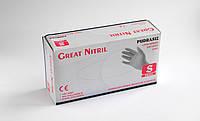 Перчатки нитриловые неопудренные Great Nitril Black S 100 шт (50 пар) черные