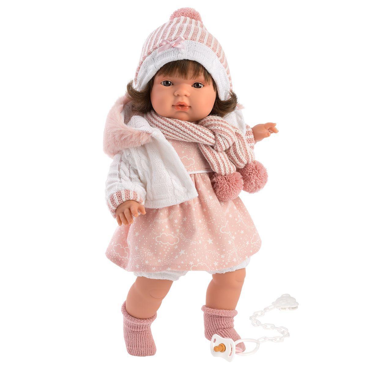 Интерактивная плачущая кукла, 38 см, Лола, Llorens 38562