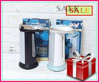 Сенсорный дозатор для жидкого мыла Soap Magic, мыльница, диспансер для мыла ЧЕРНЫЙ
