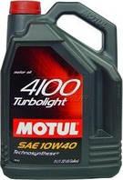Полусинтетическое моторное масло Motul (мотюль) 4100 Turbolight 10W-40 5л.