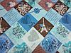 Постельное бельё Бязь GOLD Полуторный комплект (абстракция синяя), фото 2