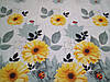 Постельное бельё Бязь GOLD Полуторный комплект (желтые цветы на белом), фото 2