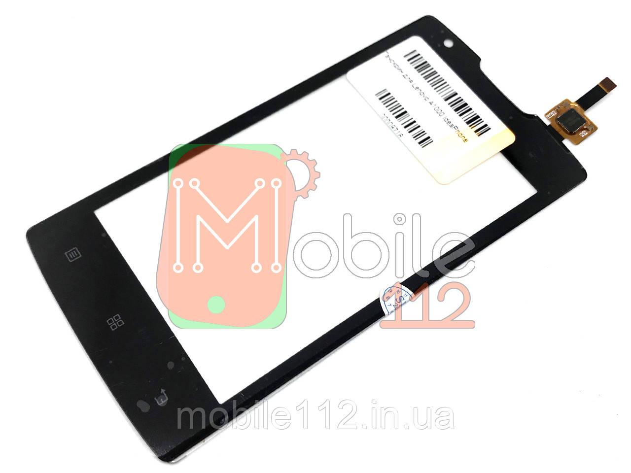 Сенсор (тачскрин) Lenovo A1000 IdeaPhone черный