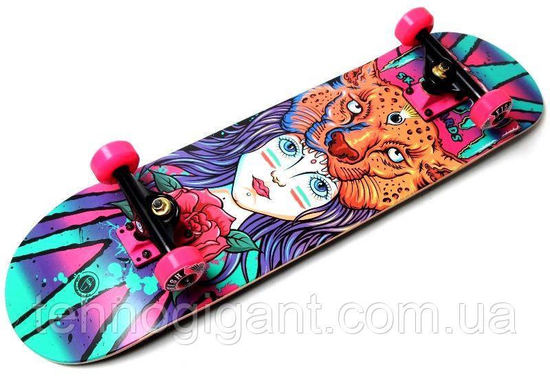 Скейт деревянный, Скейтборд, натуральный канадский клен, для трюков, Fish Skateboards - Girl, премиум!!!