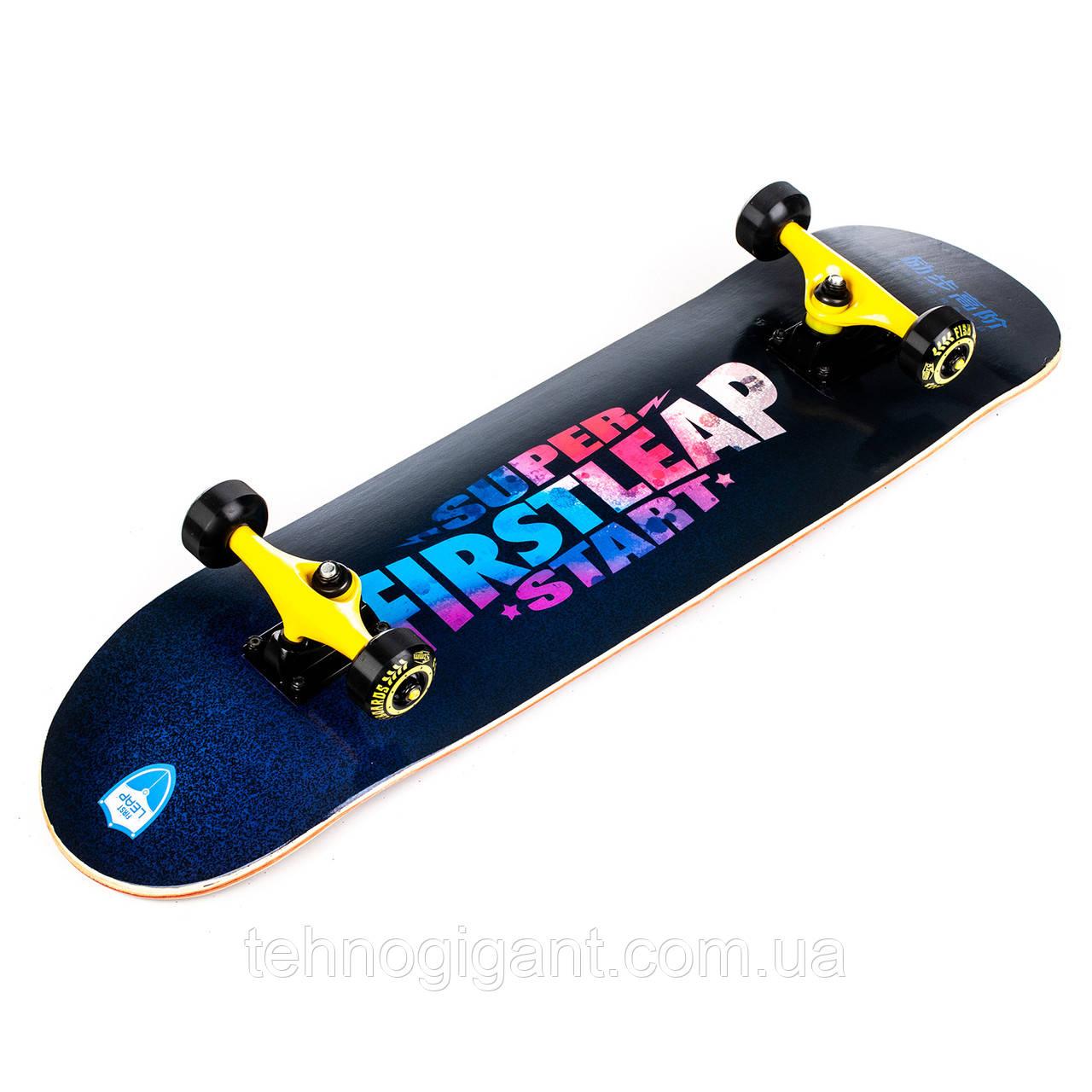 Скейт деревянный, Скейтборд, натуральный канадский клен, для трюков, Fish Skateboards Firstleap премиум!