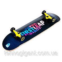 Скейт дерев'яний, Скейтборд, натуральний канадський клен, для трюків, Fish Skateboards Firstleap преміум!