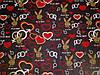 Постельное бельё Бязь GOLD Двуспальный с европростынью комплект (playboy плейбой сердца), фото 2