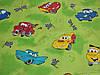 Постельное бельё Бязь GOLD Двуспальный с европростынью комплект (машинки тачки зелёное детское), фото 2
