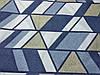 Постельное бельё Бязь GOLD Двуспальный с европростынью комплект (абстракция ромбы голубые), фото 2