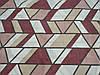 Постельное бельё Бязь GOLD Двуспальный комплект (абстракция ромбы бордовые), фото 2