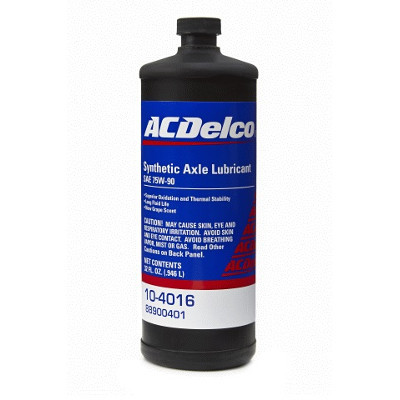 Трансмісійне масло ACDelco Synthetic Axle Lubricant 75W-90 GL-5