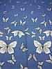 Постельное бельё Бязь GOLD Двуспальный комплект (бабочки на синем фоне), фото 2