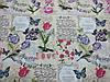 Постельное бельё Бязь GOLD Двуспальный комплект (цветы надписи на бежевом фоне), фото 2