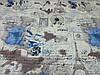 Постельное бельё Бязь GOLD Полуторный комплект (париж абстракция голубое), фото 2