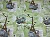 Постельное бельё Бязь GOLD Полуторный комплект (эйфелевая башня серый цветок), фото 2