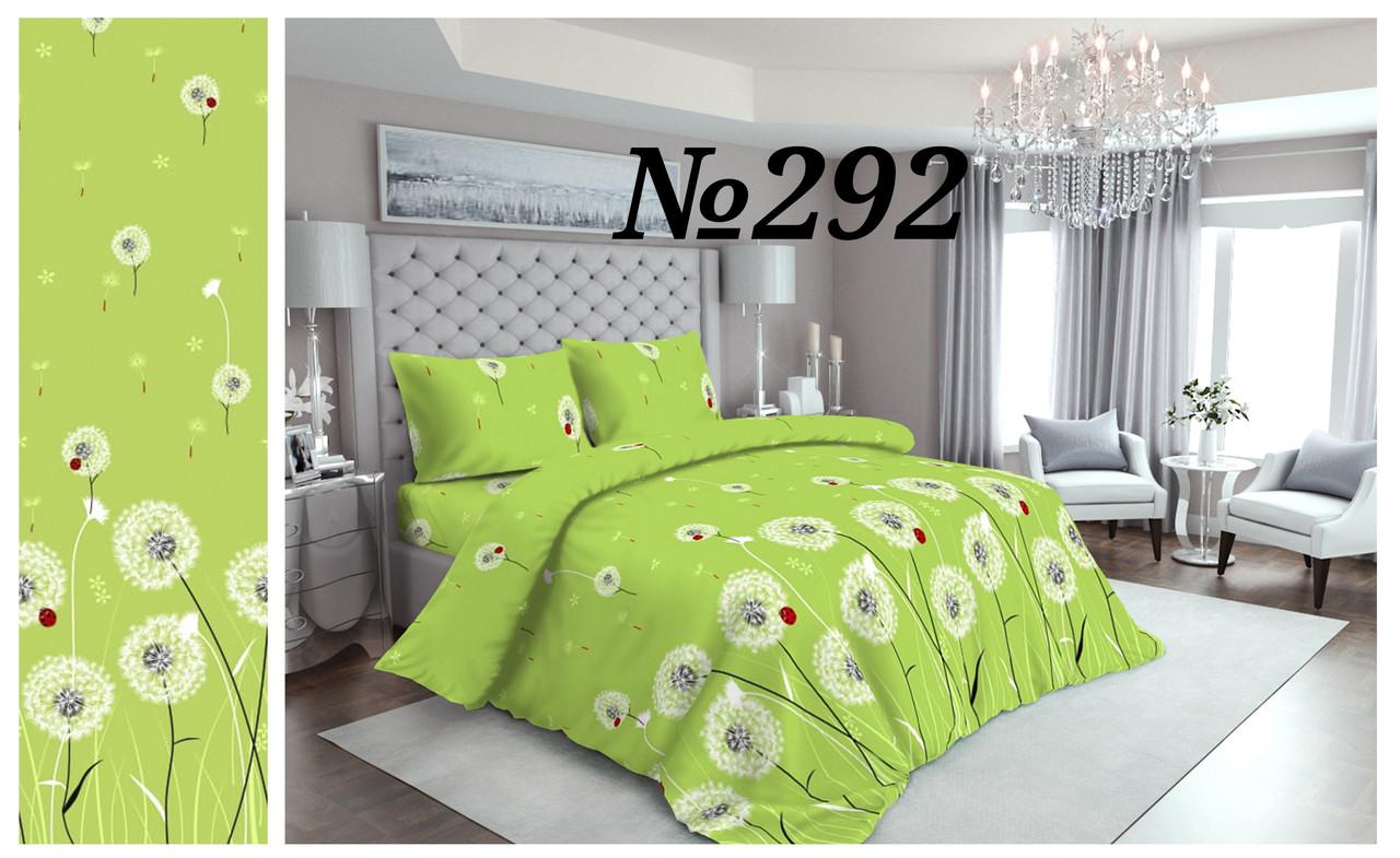 Постельное бельё Бязь GOLD  Двуспальный комплект  (зелёные одуванчики)