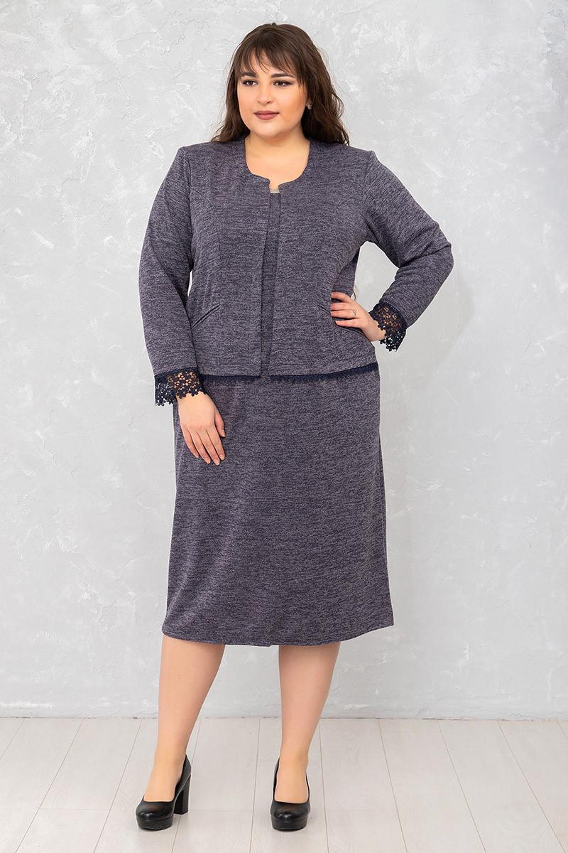 Красиве жіноче теплу сукню великих розмірів