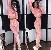 Женский модный велюровый костюм, фото 1