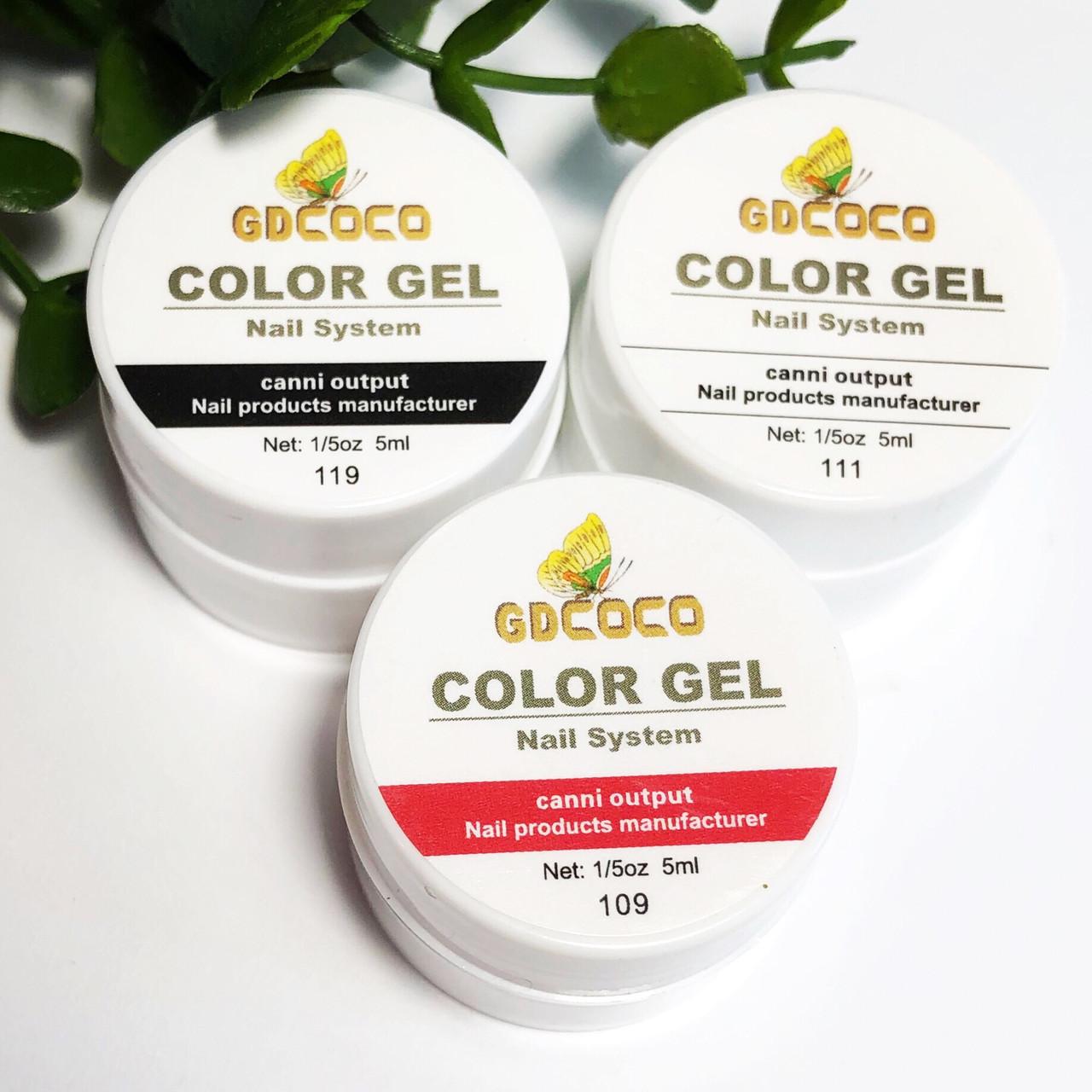 Набор гель красок для рисования COCO 5гр, 3шт