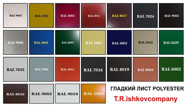 RAL Polyester Mettal Steel