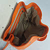"""Сумка женская """"Фиджи"""" натуральная кожа, оранжевый флотар, фото 6"""