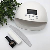 Лампа UV/LED для маникюра 50Вт + подарок(гель лак Mein+пилка+баф)