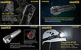 Налобный фонарь NITECORE HC35 2700LM USB Type-C + Торцевой магнит + Аккумулятор 21700*4000mAh, фото 4