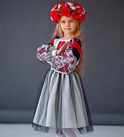 Платье вышитое для девочки 5-12 лет