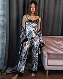 Спальный комплект женский халат майка штаны французский велюр размер:42-44,46-48,50-52,54-56., фото 3