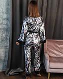 Спальный комплект женский халат майка штаны французский велюр размер:42-44,46-48,50-52,54-56., фото 6
