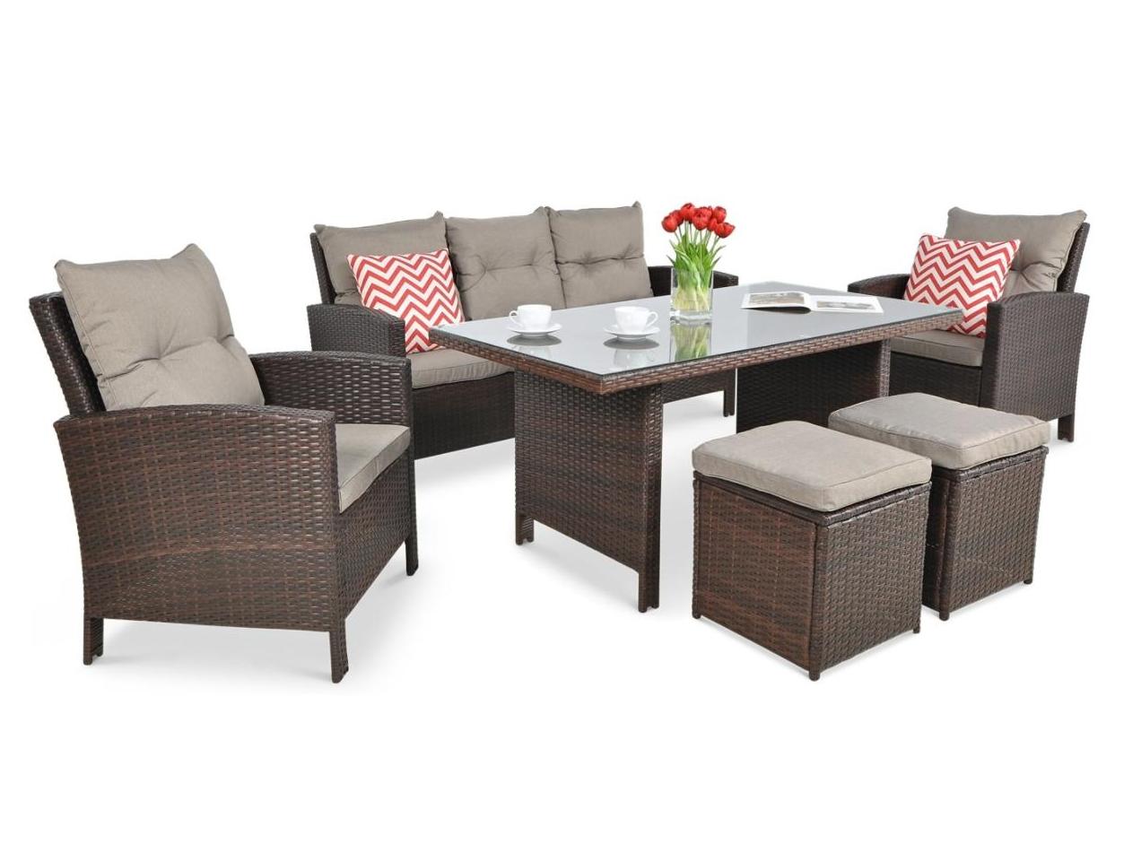 Комплект плетений з ротангу  IBIZA диван + крісла + стіл+ пуфи